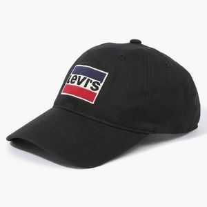 Black Levis Embroidered logo Cap